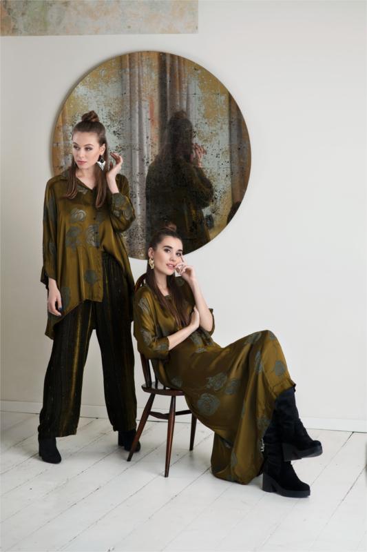 Bluse aus Seide in grün der Marke Grizas