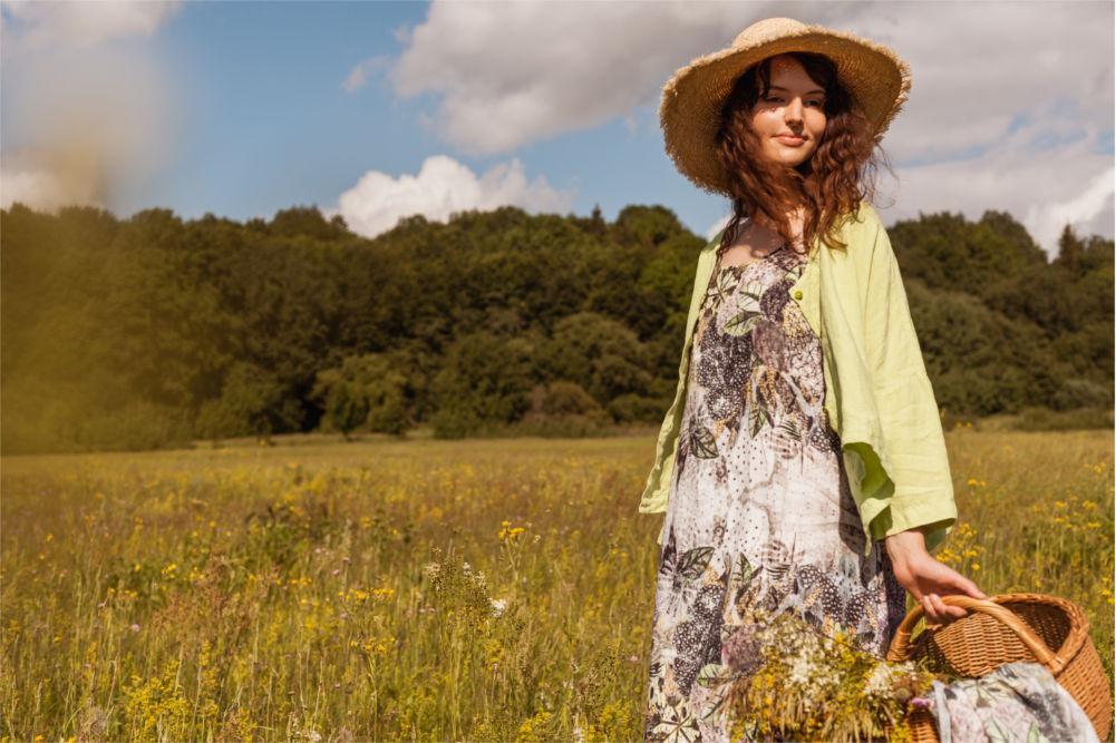 langes Kleid Sommer von der Modemarke Grizas