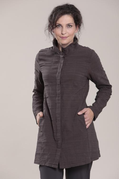 Jacke der Marke Vetono strukturiert in der Farbe grau Herbst Winter Kollekton 2020 - 2021